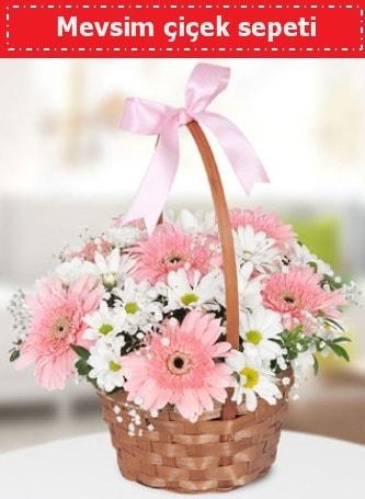 Mevsim kır çiçek sepeti  Bitlis çiçek , çiçekçi , çiçekçilik