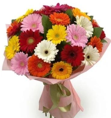 Karışık büyük boy gerbera çiçek buketi  Bitlis çiçek satışı
