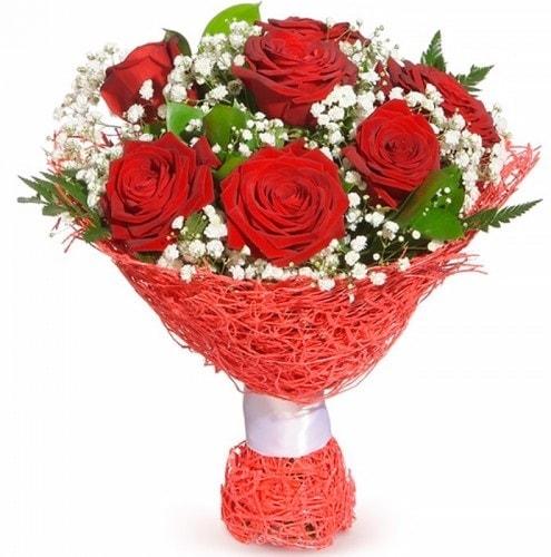 7 adet kırmızı gül buketi  Bitlis çiçekçiler